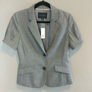 NWT Banana Republic Gray Plaid Blazer